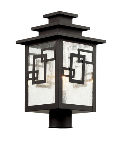 Trans Globe Lighting Geo Tempo Post Light, Weathered Bronze, 16
