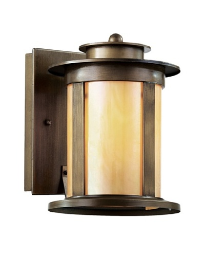 Trans Globe Lighting Bronzed Honey Lantern, Antique Bronze, 10