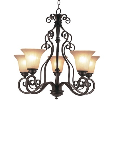 Trans Globe Lighting Garland 5-Light Chandelier, Oil-Rubbed Bronze