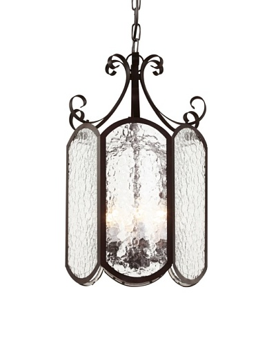 Trans Globe Lighting Iced Glass 18 Foyer Pendant, Rubbed Oil BronzeAs You See