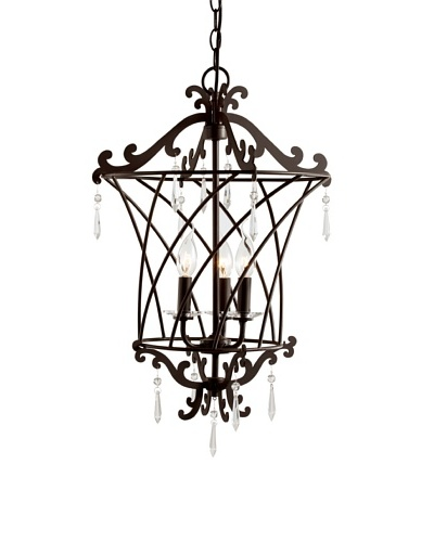 Trans Globe Lighting Basket Weaved Foyer Pendant, Rubbed Oil Bronze