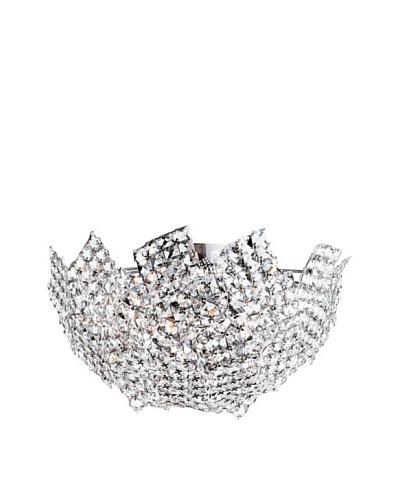 Trans Globe Lighting Fragmented Crystal Basket Semi Flush-Mount Fixture, Polished Chrome