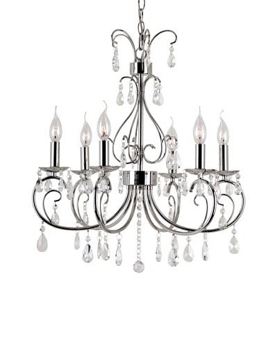 Trans Globe Lighting Chic Nouveau 6-Light Chandelier, Polished ChromeAs You See