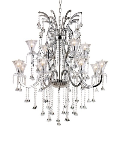 Transglobe Lighting Trumpet Vine 2 Tier Chandelier, 12 Lights