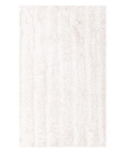 Famous International Cotton-Blend Bath Mat, White, 21 x 34