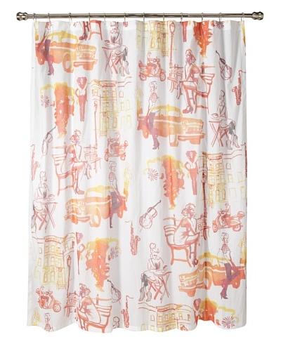 AphroChic Brooklyn Life Shower Curtain