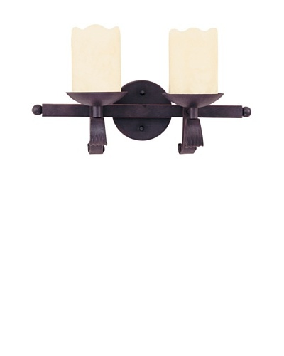 TransGlobe Candle Drip 2 Light Wall Sconce
