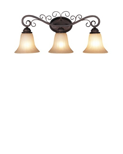 TransGlobe Garland 3-Light Bathbar, Oil-Rubbed Bronze