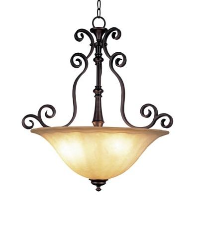 TransGlobe Garland 3-Light Pendant Lamp, Oil-Rubbed Bronze