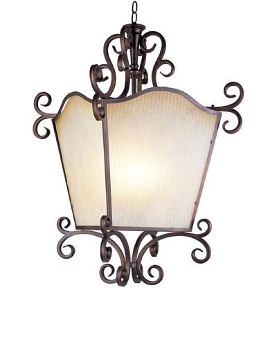 TransGlobe Garland 4-Light Pendant Lamp, Oil-Rubbed Bronze