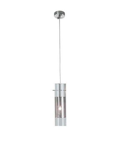Trend Lighting Scope Pendant, Clear/Brushed Nickel