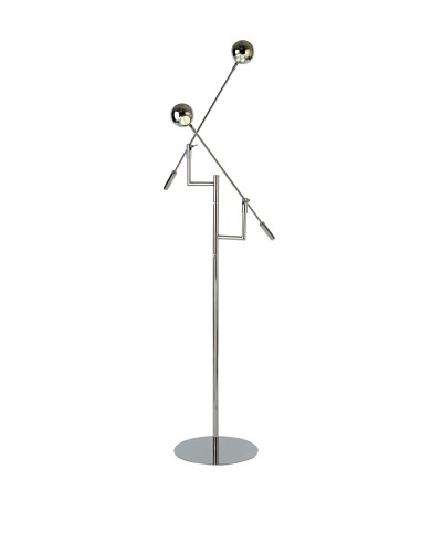 Trend Lighting Panorama Task Floor Lamp, Polished Stainless Steel