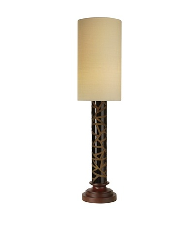 Trend Lighting Haiku Table Lamp, Walnut Finish