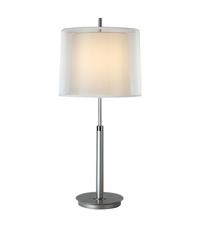 Trend Lighting Nimbus Table Lamp, Metallic Silver/Chrome