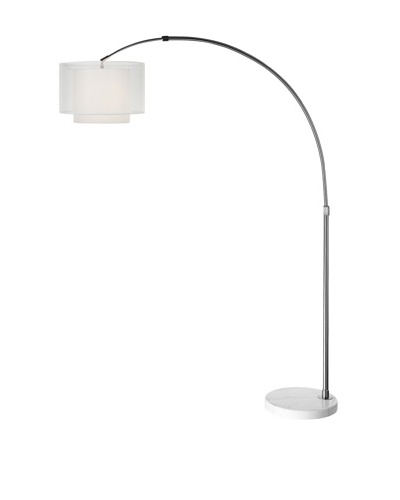 Trend Lighting Brella Arc Floor Lamp, Silver