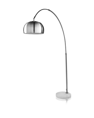 Trend Lighting Mid Arc Floor Lamp, Brushed Nickel