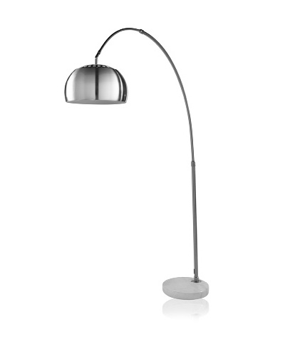 Trend Lighting Arc Floor Lamp, Brushed Nickel