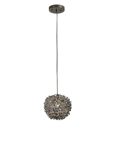 Trend Lighting Snow Single Pendant, Brushed Nickel