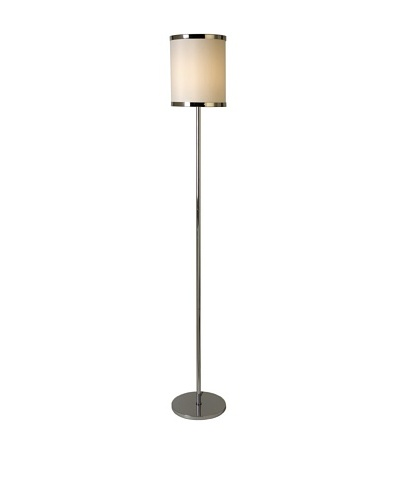 Trend Lighting Lux II Floor Lamp, Polished Chrome