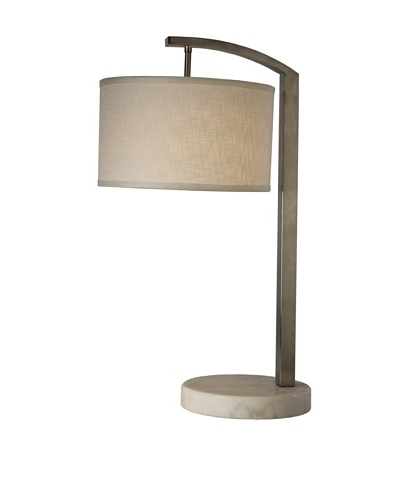 Trend Lighting Station Table Lamp, Brushed Nickel