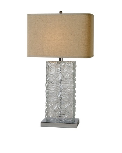 Trend Lighting Stalagmos Table Lamp, Latte/Clear/Polished Chrome