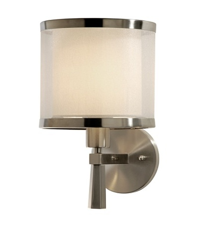Trend Lighting Lux Wall Sconce, Brushed Nickel Finish