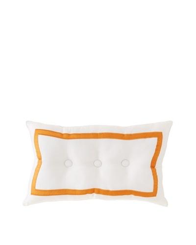 Trina Turk Geo Button-Border Pillow, White/Tropical, 12 x 20