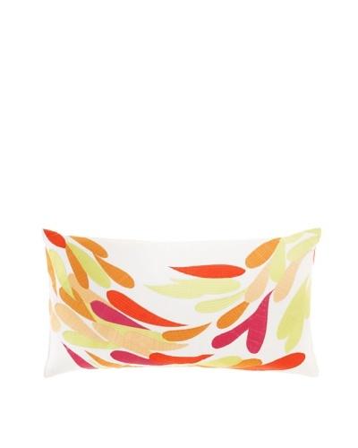 "Trina Turk Geo Splash Pillow, White/Tropical, 14"" x 26"""