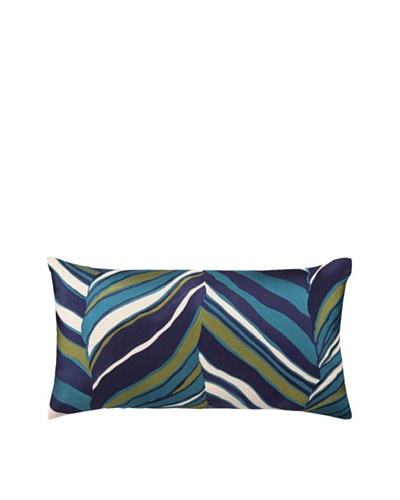 Trina Turk Tiger Leaf Embroidered Pillow