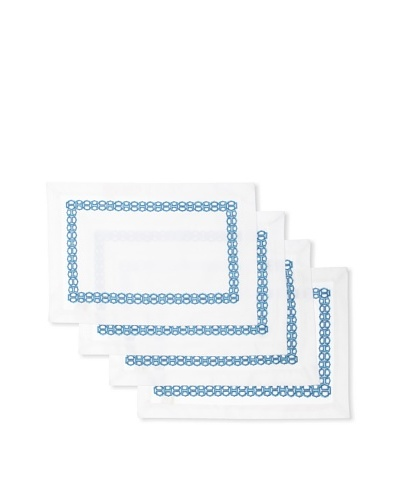 Trina Turk Set of 4 Ogee Embroidered Placemats
