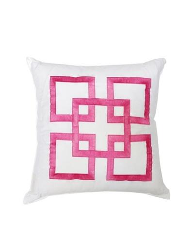 Trina Turk Tiger Leaf Pink Pillow, Pink, 18 x 18