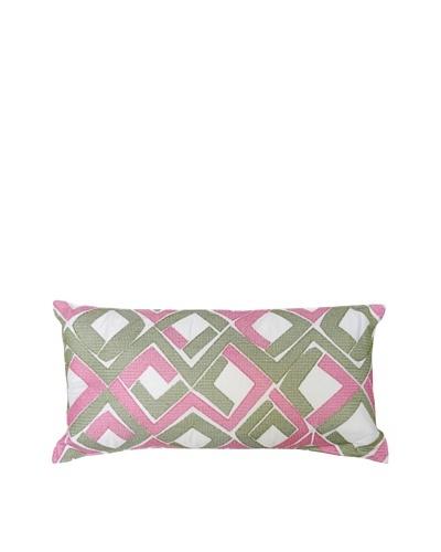 Trina Turk Tiger Leaf Diamond Pillow, Diamond, 10 x 20As You See