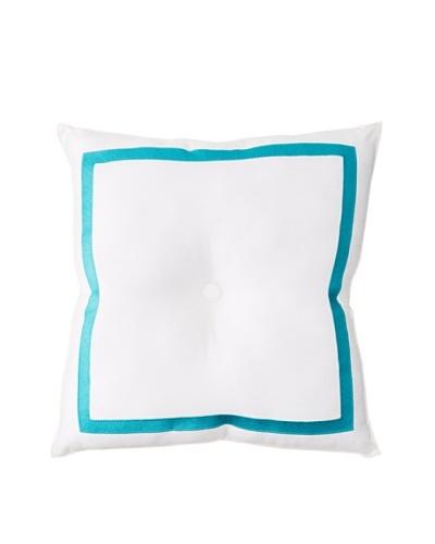 Trina Turk Vivacious Pillow, White/TealAs You See