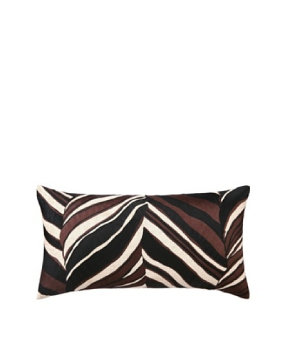 Trina Turk Tiger Leaf Embroidered Pillow [Brown]