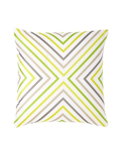 Trina Turk Ikat Geometric Down Filled Pillow, Yellow/Green