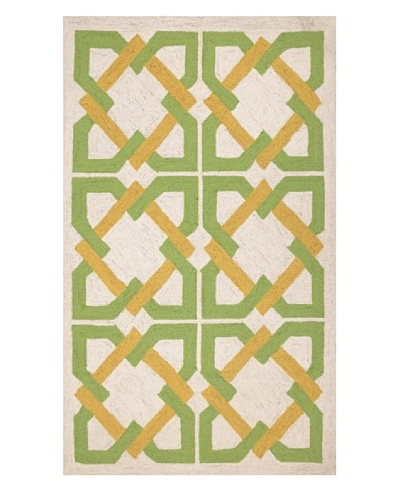 Trina Turk Geometric Tile Hook Rug [Yellow/Green]