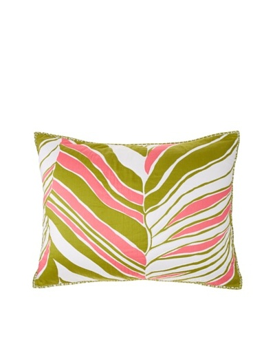 Trina Turk Tiger Leaf Pillow Sham, Green/Pink, StandardAs You See