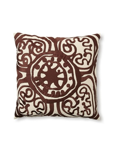 Trina Turk Embroidered Rustic Medallion Pillow
