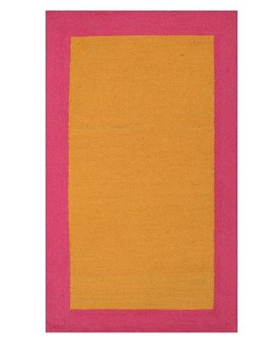 Trina Turk Bright Solid Hook Rug [Pink/Orange]