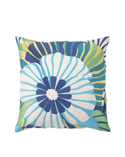 Trina Turk Sea Floral Embroidered Pillow