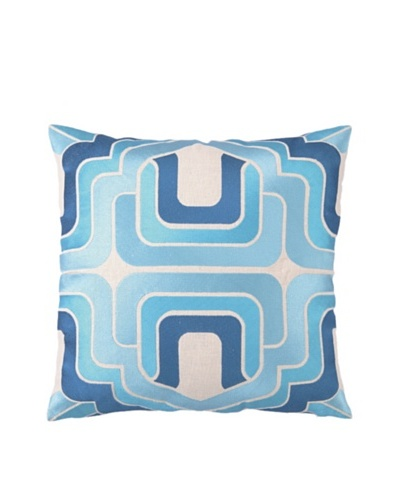 Trina Turk Ogee Embroidered Pillow [Blue]