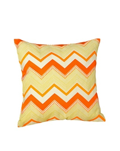 Trina Turk Zebra Stripe Decorative Square Pillow, Orange/Yellow