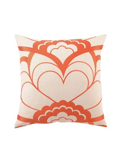"Trina Turk Deco Floral Embroidered Pillow, Orange, 20"" x 20"""