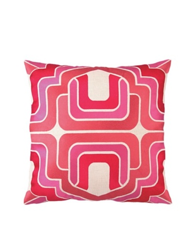 Trina Turk Ogee Embroidered Pillow, Pink, 20 x 20