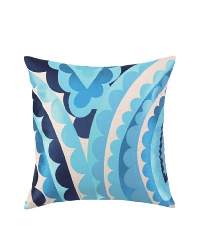 Trina Turk Vivacious Embroidered Pillow [Blue]