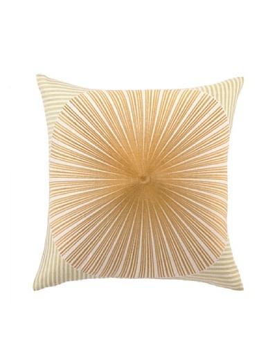 Trina Turk Mod Sunburst Embroidered Pillow [Green/Yellow]