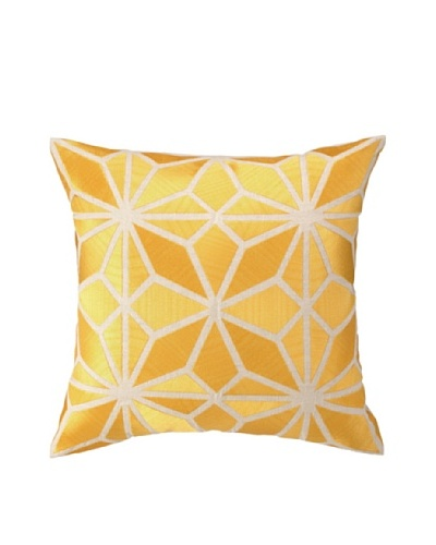 Trina Turk Mojave Embroidered Down Pillow, Yellow