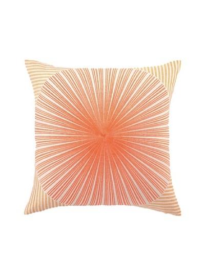 Trina Turk Mod Sunburst Embroidered Pillow, Orange/Red, 20 x 20