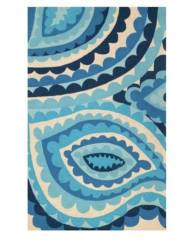 Trina Turk Vivacious Hook Rug3' x 5' [Blue]