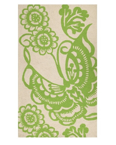 Trina Turk Butterfly Hook Rug3' x 5' [Green]